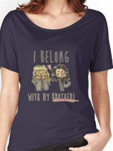 I belong with my brother Women's Relaxed Fit T-Shirt