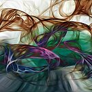 abstract series on glass by Martin Dingli