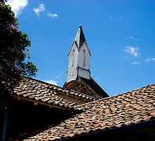 Roofline Of Modern Art Museum In Cuenca by Al Bourassa