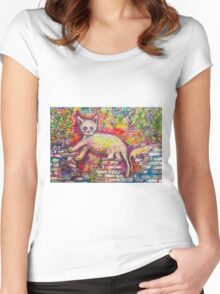 Playing Cat 'n' Mouse Women's Fitted Scoop T-Shirt