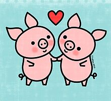 Little Pigs Valentine by zoel