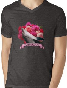 The Fabulous Dolphin Mens V-Neck T-Shirt