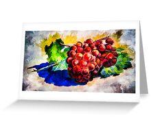 Grapes - Still Life Greeting Card