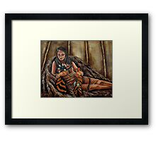 The Buffalo Blanket, Wrapped In Tradition Framed Print