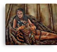 The Buffalo Blanket, Wrapped In Tradition Canvas Print