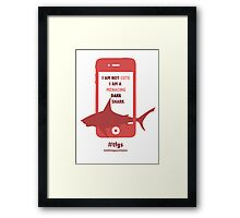 Rin || Dark Menacing Shark Framed Print
