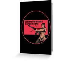 Archer - Danger Zone (Circled) Greeting Card