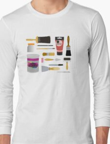 Painting Tools Shirt Long Sleeve T-Shirt