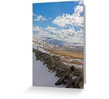 Lake District in Winter Greeting Card