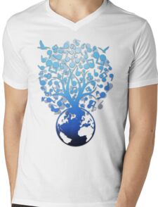 The_Music_Tree Mens V-Neck T-Shirt