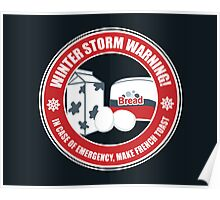 Winter Storm Warning Poster