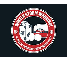 Winter Storm Warning Photographic Print