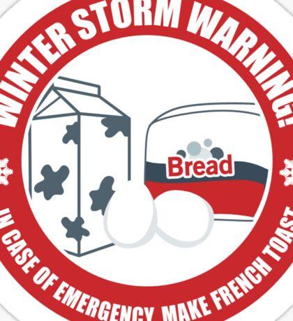 Winter Storm Warning Sticker