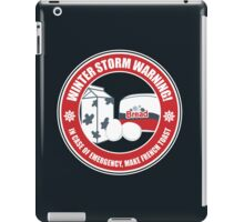 Winter Storm Warning iPad Case/Skin