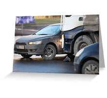 clash truck and car Greeting Card