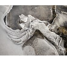 Nature's Abstract Ice Art Photographic Print
