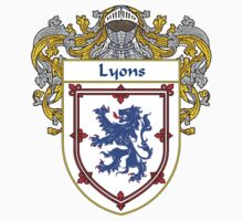 Lyons Coat of Arms/Family Crest by William Martin
