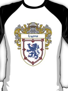 Lyons Coat of Arms/Family Crest T-Shirt