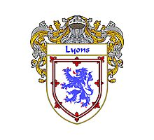 Lyons Coat of Arms/Family Crest Photographic Print