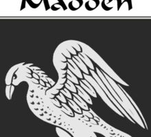 Madden Coat of Arms/Family Crest Sticker