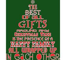 Happy Family Christmas Tree Photographic Print
