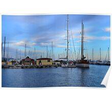 Lavandou international marina in the french Riviera Poster
