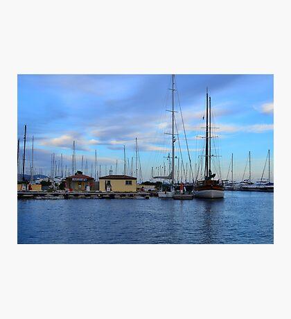 Lavandou international marina in the french Riviera Photographic Print