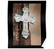 A beautifully ornate ceramic cross Poster