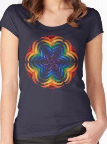 Flare Mandala Women's Fitted Scoop T-Shirt