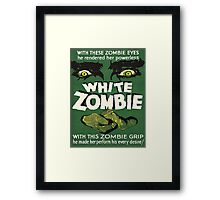 Cool White Zombie Film Poster Framed Print