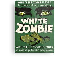 Cool White Zombie Film Poster Metal Print