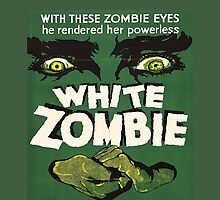 Cool White Zombie Film Poster by tommytidalwave