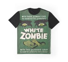 Cool White Zombie Film Poster Graphic T-Shirt