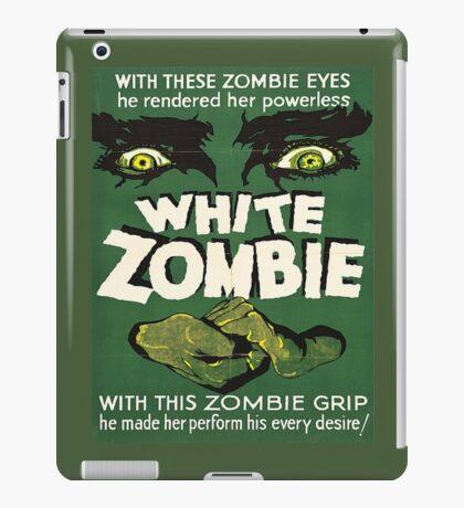 Cool White Zombie Film Poster iPad Case/Skin