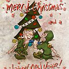 Christmas Cracker With The Elves ! by Chris Baker