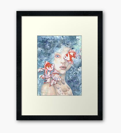 Under the Water and Dreaming Framed Print