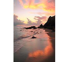 Evening Sky and Island Beach Photographic Print