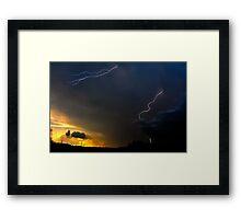 Sunset Lightning Framed Print
