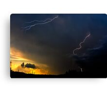 Sunset Lightning Canvas Print