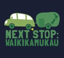 NEXT STOP: Waikikamukau funny fake Kiwi New Zealand travel destination Kids Tee
