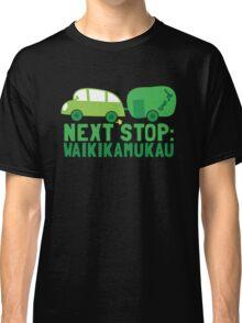 NEXT STOP: Waikikamukau funny fake Kiwi New Zealand travel destination Classic T-Shirt