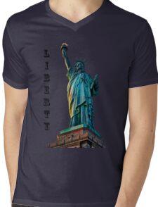 Liberty Light Mens V-Neck T-Shirt