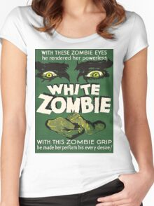 Cool White Zombie Film Poster Women's Fitted Scoop T-Shirt
