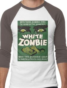 Cool White Zombie Film Poster Men's Baseball ¾ T-Shirt