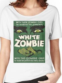 Cool White Zombie Film Poster Women's Relaxed Fit T-Shirt