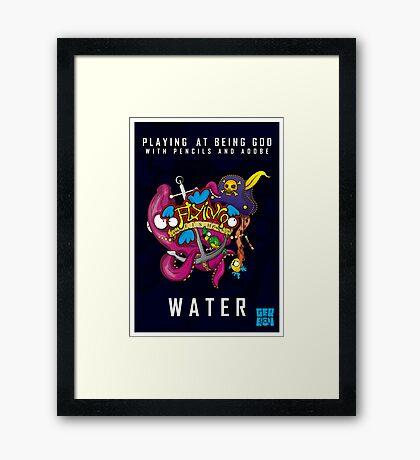 Flyin Fish Water Framed Print