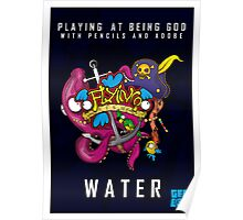 Flyin Fish Water Poster