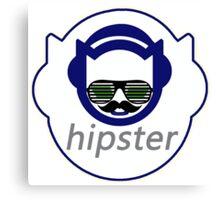 Hipster Napster Parody Logo  Canvas Print