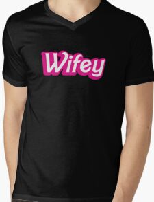 Wifey in cute bubble pink font Mens V-Neck T-Shirt
