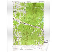 USGS Topo Map  Vermont VT Camels Hump 337909 1948 62500 Poster